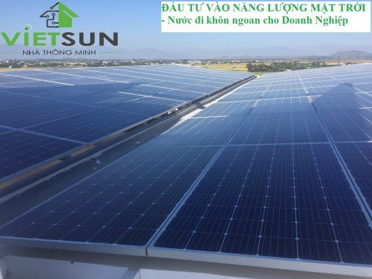 """Đầu tư vào năng lượng mặt trời – """"Miếng mồi"""" ngon cho các doanh nghiệp"""