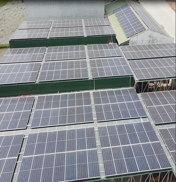 Tấm pin năng lượng mặt trời áp mái nhà xưởng