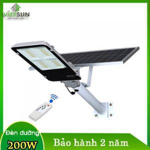 Đèn đường năng lượng mặt trời 200W tấm pin rời